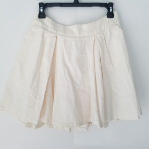 UO Cooperative Cream Full Skirt with Pockets